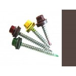 Саморезы кровельные Шоколад RAL 8017 со сверлом, 4,8 х 70 мм