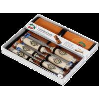 Набор стамесок в картонной упаковке 6 шт. + велюровая сворачивающаяся сумка KIRSCHEN 1171 LRT (на заказ)