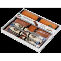 Набор стамесок в картонной упаковке 4 шт. + велюровая сворачивающаяся сумка KIRSCHEN 1151 LRT (на заказ)
