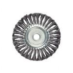 Щетка для УШМ - плоская крученая сталь D=150 мм