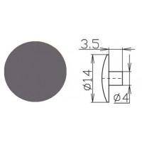 Заглушка под шестигранник №17 Металлик 1000 шт