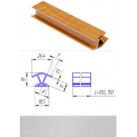 Профиль соединительный внутренний для цоколя 135° Титан L-100 мм