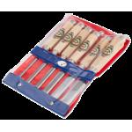 Набор стамесок в пластиковом чехле 6 шт., 6, 10, 12, 16, 20, 26 мм KIRSCHEN 1112 PT (на заказ)