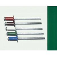 Заклепка вытяжная комбинированная 3,2 х 8 мм, оцинкованная сталь/алюминий RAL 6005