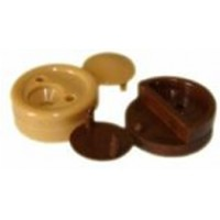 Зеркалодержатель пластмассовый 4 мм коричневый Россия