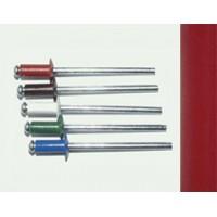 Заклепка вытяжная комбинированная 3,2 х 8 мм, оцинкованная сталь/алюминий RAL 3005