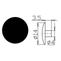 Заглушка под шестигранник №22 черный1000 шт