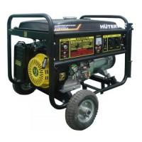 Электрогенератор DY8000LX с колёсами Huter