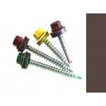 Саморезы кровельные Шоколад RAL 8017 со сверлом, 4,8 х 35 мм (250 шт.)