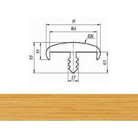 Профиль T 16-1 мм гибкий декор дуб классический