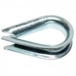 Коуш для стальных канатов 4 x 5 мм DIN 6899
