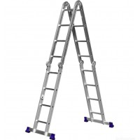 Лестница алюминиевая шарнирная 4 х 4 ступ. 1,22 - 4,66 м СИБРТЕХ