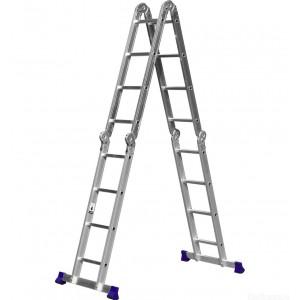 Лестница алюминиевая шарнирная 4 х 3 ступ.  Россия