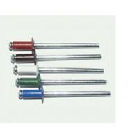 Заклепка вытяжная комбинированная 3,2 х 8 мм, оцинкованная сталь/алюминий  RAL 9003