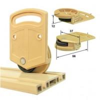 Комплект роликов для легких дверей-купе коричневые