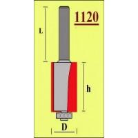 Профиль T 16-2 мм гибкий кофейный
