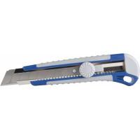 Нож КОБАЛЬТ лезвие 25 мм, двухкомпонентный корпус, металлическая направляющая, фиксатор