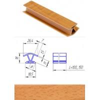 Профиль соединительный внутренний для цоколя 135°  Бук фактурный L-100 мм