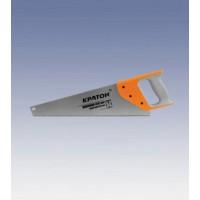 Ножовка КРАТОН Нobby 400 мм 2-гранные закаленные зубья, обрезиненная ручка