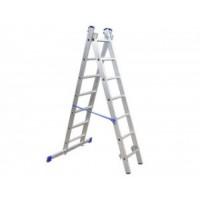 Лестница алюминиевая двухсекционная 2 х 7 ступ. 1,96 - 3,08 м СИБРТЕХ