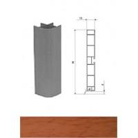 Профиль соединительный для цоколя 90° вишня L-100 мм