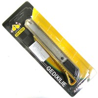 Нож пистолетный с квадратным фиксатором GD-216A (Лезвие 18 мм)