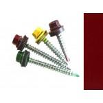 Саморезы кровельные Рубин RAL 3003 со сверлом, 4,8 х 35 мм (200 шт.)
