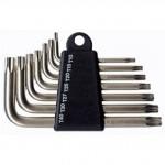 Набор ключей угловых TORX 9 шт. (№10-50, 50х3 мм-125х9 мм) хромированная сталь ЕРМАК