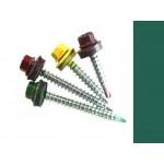 Саморезы кровельные Зеленый опал RAL 6026 со сверлом, 4,8 х 35 мм