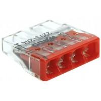 Клемма 4x0,5-2,5 мм н/г Cu/Al контактная паста 450В WAGO 2273-244