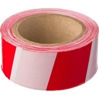 Лента сигнальная бело-красная 50 мм х 150 м