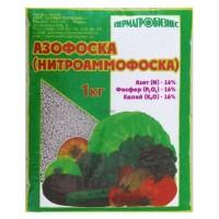 Азофоска (нитроаммофоска) 1кг (азот 16%, фосфор 16%, калий 16%) удобрение