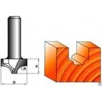 Фреза пазовая радиусная с перемычкой  6 x 18 х 12 мм S=8 GLOBUS 1009