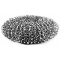 Мочалка для посуды, металл. сетка, d=10 см MasterHouse 60234