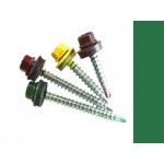 Саморезы кровельные Зеленая мята RAL 6029 со сверлом, 5,5 х 19 мм (300 шт.)