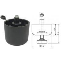 Опора регулируемая черная 50 x 44 мм