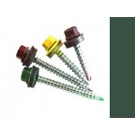 Саморезы кровельные Зеленый мох RAL 6005 со сверлом, 4,8 х 29 мм