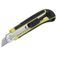 Нож 18 мм 3 лезвия с автозаменой обрезиненная ручка