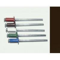 Заклепка вытяжная комбинированная 3,2 х 8 мм, оцинкованная сталь/алюминий  RAL 8017