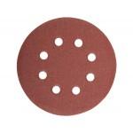 Круг для эксцентриковой шлифмашины D=125 мм, зернистость К80, 8 отверстий, 1 ШТ MAKITA P-43642