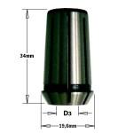 Цанга высокоточная для фрезера D=8, L=34 мм (на заказ)
