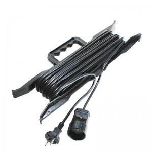 Удлинитель сетевой JETT рамка ПВС 2х0.75 1 роз. 30 м 10 А черный