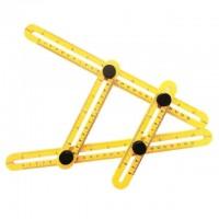 Линейка-шаблон строительная 31 см. пластик, желтая