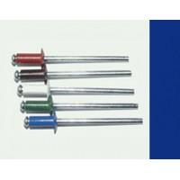 Заклепка вытяжная комбинированная 3,2 х 8 мм, оцинкованная сталь/алюминий RAL 5005