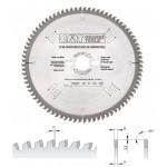 Диск пильный по алюминию 250x30x3,2/2,5 Z80 a=-6 TCG (ламинат, цв.мет., пласт.) (на заказ)