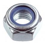 Гайка со стопорным кольцом М12 оцинкованная DIN 985