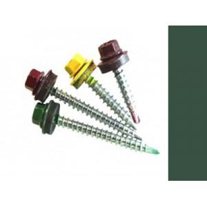 Саморезы кровельные Зеленый мох RAL 6005 со сверлом, 4,8 х 70 мм