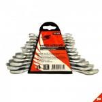 Набор ключей рожковых 6-22 мм 10 шт в пластмассовом подвесе