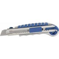 Нож 18 мм металлический корпус, 6 лезвий, автостоп, доп. фиксатор КОБАЛЬТ 242-113