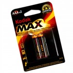 Батарейки AAA LR03/286 Kodak Max щелочные 2 шт 1,5 В